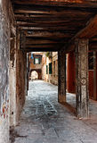 Narrow passage. Between buildings in Venice,Italy Royalty Free Stock Images