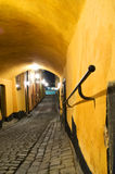 Narrow passage. A narrow passage in Gamla Stan (the Old Town), Stockholm Royalty Free Stock Photo
