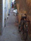 Narrow passage in Chennai city Stock Photos