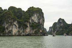 Narrow Passage. A narrow passage in Ha Long Bay, Viet Nam Royalty Free Stock Photos