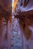 Light at the End of the Slot Canyon Stock Photo