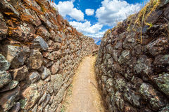 Narrow Passage in Ruins Royalty Free Stock Photo