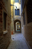 Narrow passage to Venice canal Royalty Free Stock Photos