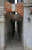 The narrow passage in Venice, Italy Stock Photography
