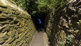 Narrow Passageway B. Captured in Clifton Bristol England, Night view of Public Footpath Royalty Free Stock Images