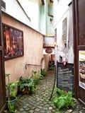 Narrow passageway to the restaurant Bolero Royalty Free Stock Photo