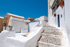 Narrow path in Oia town on the Thera,(Santorini). Greece. Royalty Free Stock Photo
