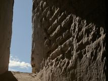 Granada, Spain. An ancient wall in the Alhambra stock photography
