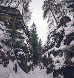 Narrow path stock photos