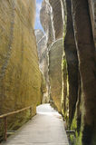 Narrow path in Skalne Mesto Adrspach Czech Republic Royalty Free Stock Photography