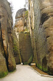 Narrow path in Skalne Mesto Adrspach Czech Republic Royalty Free Stock Photos
