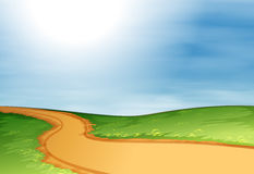 A narrow pathway. Illustration of a narrow pathway Stock Photo