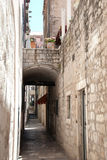 Narrow paved path, Dubrovnik, Croatia Stock Images