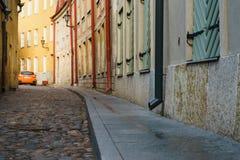 Narrow paved street Royalty Free Stock Photos
