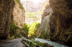 The narrow portion in the Chegem gorge. In Kabardino-Balkaria Royalty Free Stock Photography