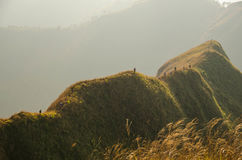 On the narrow ridge. Narrow ridge of Khao Chang Puak, Thailand Stock Photos