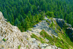 Narrow Ridge With Steep Slopes Stock Images