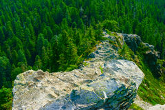 Narrow Ridge With Steep Slopes Royalty Free Stock Photography
