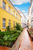 Narrow Riga street Royalty Free Stock Photo