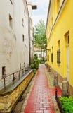 Narrow Riga street Stock Photography