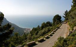 Narrow road. To Port de Valldemossa Royalty Free Stock Photo