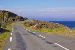 Narrow Road. Narrow coastal in Varanger in the extreme north of Norway Royalty Free Stock Image