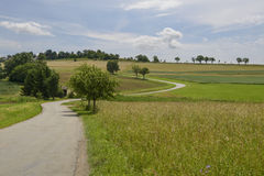 Narrow road bending uphill, Ofingen, Baden Stock Images