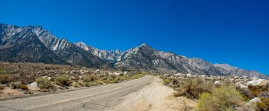 Whitney Portal Panorama stock photography