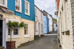 Narrow Road Lined with Old Buildings Royalty Free Stock Photography
