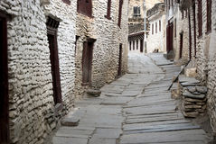 Narrow Road of Marpha Stock Photo