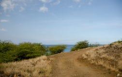 Narrow road near Hapuna beach Royalty Free Stock Images