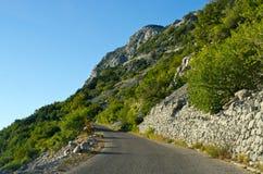 Narrow road on the slope Royalty Free Stock Photo