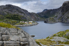 Narrow rocky Norwegian fjord Royalty Free Stock Images