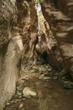 Narrow rocky passage of Avakas Gorge at Cyprus Royalty Free Stock Photo
