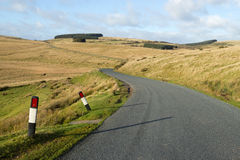 Narrow rural road B4519 on the Mynydd Epynt. Stock Images