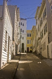 Narrow San Francisco Street. This is a picture of a narrow San Francisco Street Stock Photo
