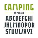 Narrow sanserif bulk font with rounded corners Royalty Free Stock Image