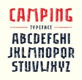 Narrow sanserif bulk font with rounded corners Stock Photography