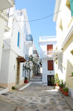 Narrow skopelos street Stock Photography