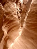 Narrow Slot Canyon Royalty Free Stock Photography