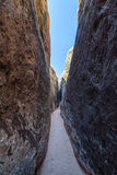 Narrow Slot Canyon Hike Royalty Free Stock Image