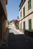 Narrow Spanish street Royalty Free Stock Images