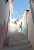 Narrow stair street Royalty Free Stock Photo