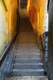 Narrow staircase in Stockholm Royalty Free Stock Images