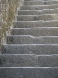 Narrow stairs in Mont Saint Michel, France Stock Photography