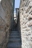 Narrow stairs in Mont Saint Michel, France Royalty Free Stock Photography