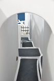 Narrow stairway on greek island santorin Royalty Free Stock Photography
