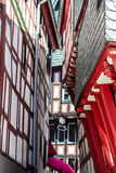 A narrow steep alley in Limburg an der Lahn, Germany Royalty Free Stock Photos