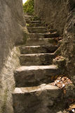 Narrow, steep steps stock photos