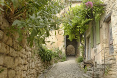 Narrow street in Provence Stock Photography